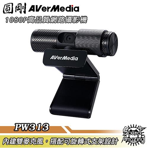 圓剛 PW313 Live Streamer CAM 高畫質網路攝影機 webcam 360度旋轉支架設計【Sound Amazing】