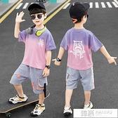 童裝男童夏裝套裝2021新款兒童夏天洋氣中大童男孩夏季帥氣韓版潮 夏季新品