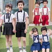 兒童節合唱服演出服幼兒園服裝小學生朗誦背帶褲合唱團表演服