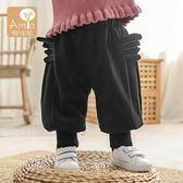 長褲寶寶加絨褲子女秋冬2嬰幼兒哈倫褲外穿1-3歲女童冬季長褲 歐亞時尚