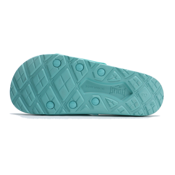 EVERLAST 水藍 淺藍綠 大LOGO 運動拖 拖鞋 女(布魯克林) 4025220281