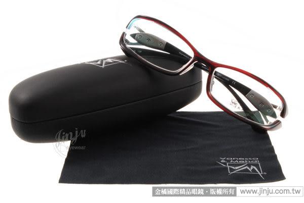 【金橘眼鏡】Vanessa Mehdi眼鏡 強悍視覺#VM0707 C0003 紅-黑色 -全球專利可調式鏡臂 (免運)