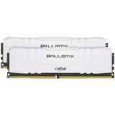 Micron 美光 Crucial Ballistix 白色 DDR4-3200 64GB-Kit 桌上型記憶體 32GB*2 BL2K32G32C16U4W