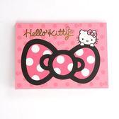 ★funbox生活用品★《Sanrio》HELLO KITTY緞帶文具系列A6便條本(粉)_UA42400