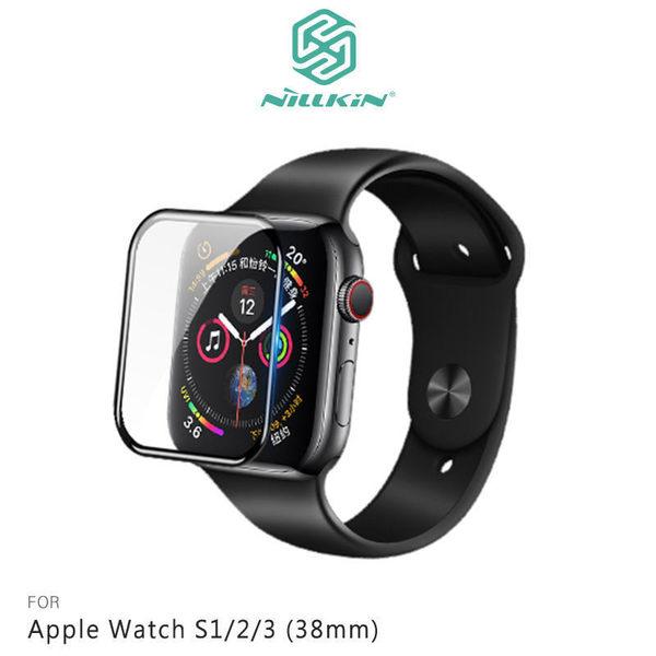 ☆愛思摩比☆NILLKIN Apple Watch S1/2/3 3D AW+ 全膠滿版玻璃貼 鋼化玻璃