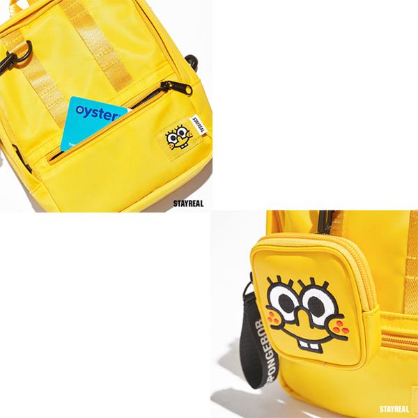 【橘子包包館】STAYREAL x SpongeBob 海綿寶寶迷你後背包 BB20006 黃 側背包/後背包