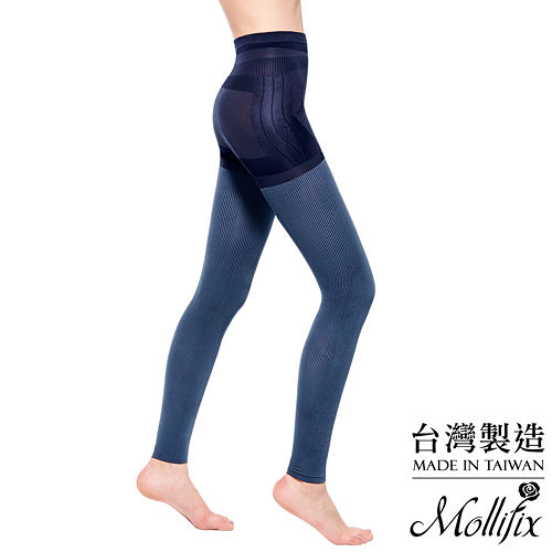 Mollifix瑪莉菲絲 3D極型拉提直紋9分塑身褲 (水洗丹寧)