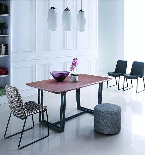 【南洋風休閒傢俱】餐桌椅系列-黑爵士工業風復古實木餐桌  斯貝布餐椅 一桌四椅 JX224-4 248-14-15