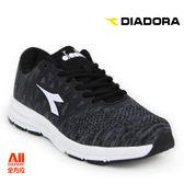 【Diadora 迪亞多那】女款 休閒運動鞋-編織黑白(D6690)全方位跑步概念館