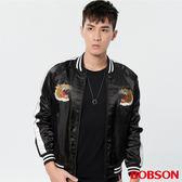 BOBSON 男款鋪棉老虎刺繡外套(37037-88)