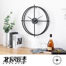 【北歐原素】極簡雙環造型掛鐘 時鐘 鐵藝...