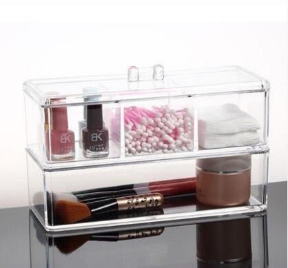 棉籤盒 化妝棉盒化妝品收納盒 創意桌面整理塑料儲物盒【1172-1】LJ-818435