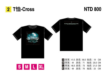 ONE OK ROCK《AMBITIONS ASIA TOUR 2018 in TAIWAN》T恤-Cross