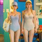Qmigirl 泳裝【ET133】新款性感連身顯瘦遮肚泳衣 溫泉 沙灘 BIKINI