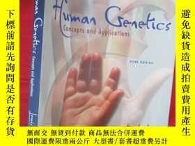 二手書博民逛書店Human罕見Genetics: Concepts and Ap