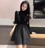 女裝秋裝新款潮氣質女神范衣服初秋連身裙子秋冬兩件套裝聖誕交換禮物