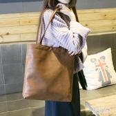 托特包 2019新款韓版單肩手提包休閒簡約大容量子母包托特包女包潮 aj1496『美好時光』