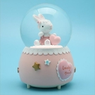 現貨 可愛兔子水晶球木馬愛心飄雪帶燈音樂盒女生生日兒童學生禮物