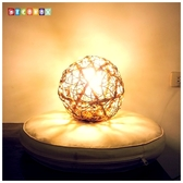 DecoBox峇里島三色藤球型吊燈(21公分)-不含燈泡線材,不含拍攝用的裝飾品(球燈,插花,花器)