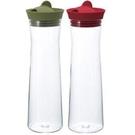 金時代書香咖啡 HARIO 矽膠玻璃冷水瓶冷水壺 1000ML 兩色可選紅/綠 HAR-WJ-10