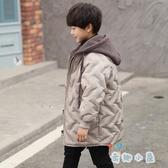 男童棉衣外套中長款加厚中大童兒童棉襖羽絨棉服【奇趣小屋】