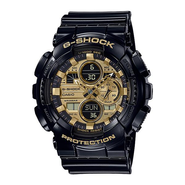 CASIO 手錶專賣店卡西歐 GA-140GB-1A1 G-SHOCK 雙顯男錶 金色 防水200米 耐衝擊構造