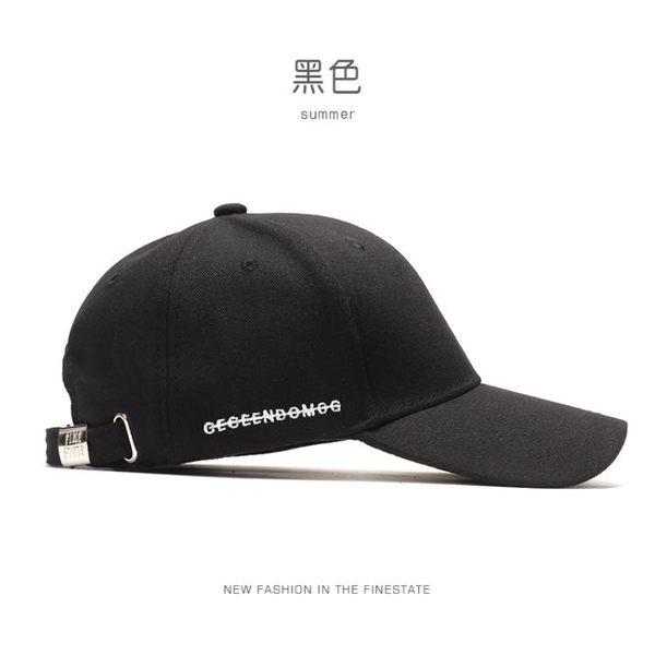 棒球帽帽子男潮牌黑色鴨舌帽正韓冬季遮陽帽休閒百搭男士棒球帽街頭簡約