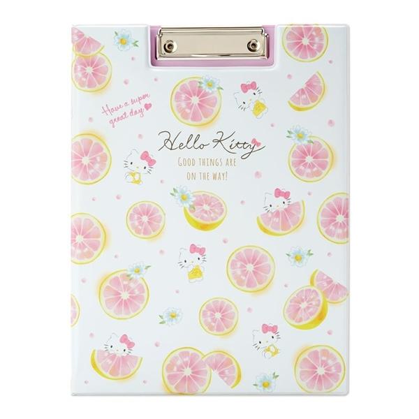 小禮堂 Hello Kitty A4塑膠文件夾板 A4板夾 資料板夾 菜單夾 塑膠夾板 (白 幸福女孩) 4550337-37172