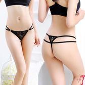 丁字褲 誘惑性感女式內衣蕾絲透明雙腰帶低腰T褲丁字褲內褲JS5002