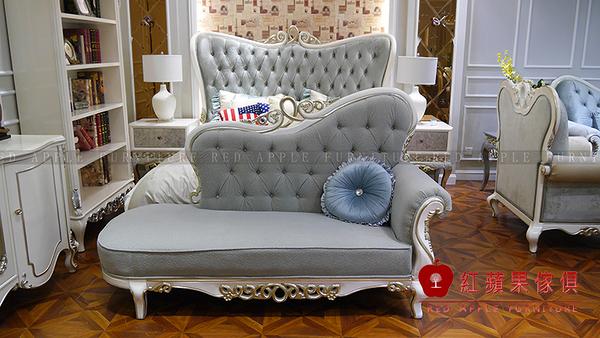 [紅蘋果傢俱] MDS-34 新古典系列 貴妃椅 單人椅 椅子 數千坪展示