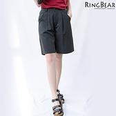 五分褲--雅緻格調知性魅力OL首選質感直條挺版雙口袋五分褲(黑.灰XL-5L)-R178眼圈熊中大尺碼◎