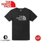 【The North Face 男 LOGO 快乾短袖T恤《黑》】3V7A/FlashDry/排汗快乾/運動衣/圓領衣/休閒衣