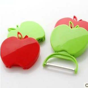 【TT293】蘋果造型 折疊削皮器 (不挑色)(單個入)