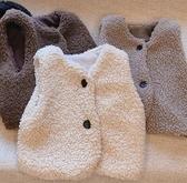 兒童馬甲 新款韓版女童羊羔毛加厚保暖馬甲背心日系兒童寶寶馬夾坎肩【快速出貨八折鉅惠】
