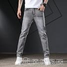 牛仔褲男 潮流新款男士彈力修身直筒牛仔褲男潮流時尚牛仔褲17 【618特惠】