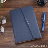 記事本 商務筆記本定做活頁記事本文具創意禮盒皮面日記本子 莫妮卡小屋