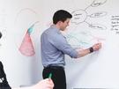 環保PVC白板貼 創意塗鴉居家裝飾教學 可剪裁 不傷牆面 45x200cm 送1支白板筆【TA010】《約翰家庭百貨