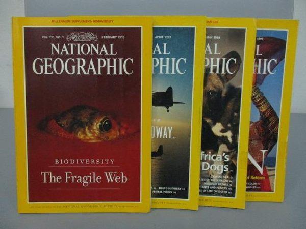 【書寶二手書T7/雜誌期刊_PHO】國家地理_1999/2~7月間_4本合售_The Fragile Web等_英文