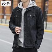 99免運 磨破修身牛仔夾克男士2021秋季機能工裝外套韓版潮流休閒百搭衣服 【寶貝計畫】