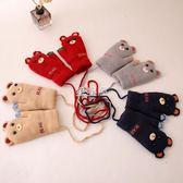 寶寶手套冬1-3歲男小童女嬰兒小孩卡通小熊連指加絨保暖可愛兒童