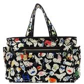 CHANEL 香奈兒 黑色法蘭絨動物造型大型肩背包 Baby Animals Diaper Bag 【BRAND OFF】