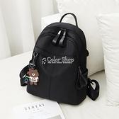 牛津布雙肩包女新款潮韓版時尚百搭書包旅行帆布女包包小背包 快速出貨
