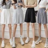 西裝短褲女薄款高腰闊腿寬松五分西褲休閑褲DC227快時尚