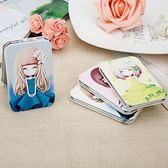 時尚韓式創意女士隨身化妝梳妝迷你小鏡子Dhh4730【潘小丫女鞋】