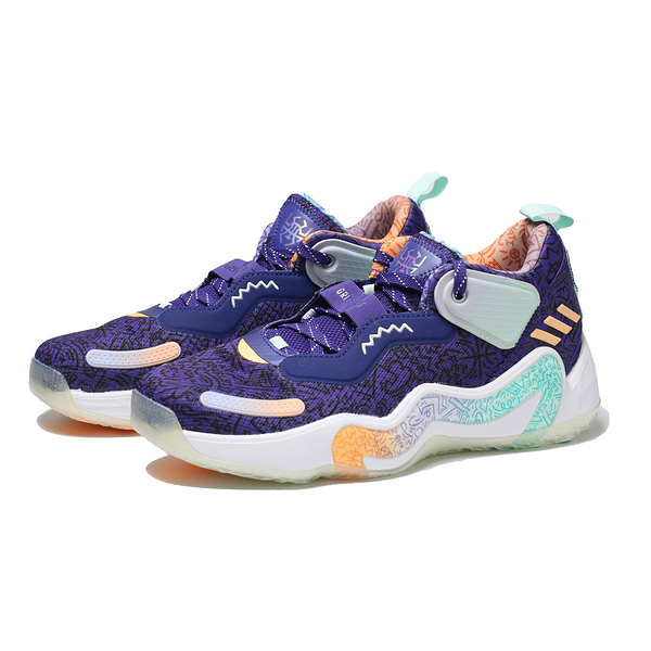 ADIDAS 籃球鞋 D.O.N. ISSUE 3 PLAYGROUND HOOPS GCA 紫綠 米契爾 男 (布魯克林) GV7264