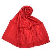 HERMES 經典H logo羊絨混絲披肩圍巾(紅色)179156
