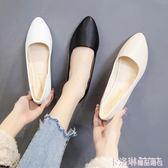 白色護士鞋坡跟新款韓版防滑牛筋底女單鞋透氣軟底春夏簡約女鞋 免運
