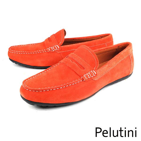 【Pelutini】經典質感休閒鞋 橘色(8339-ORS)