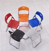 鋼架折疊培訓椅接待會客椅職員椅學生電腦椅會場會議椅子WY