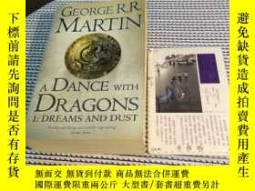 二手書博民逛書店英文原版罕見a dance with dragons part